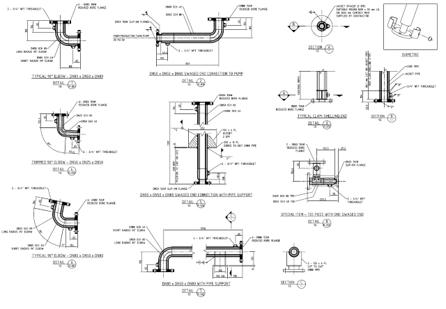 Jacketed Pipe Fabrication Details Piping Detail Design